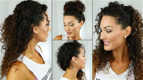 easy back to school curly hairstyles youtube