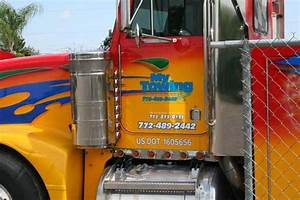 semi truck signs wraps graphics and letter in vero beach fl With semi truck lettering