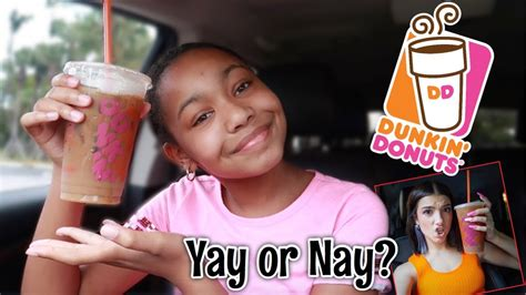 And now, there's the dunkin' x charli d'amelio merch collection, so you can take your love of the tiktok star and coffee. Trying The Charli D'amelio Dunkin Donuts Drink! - YouTube