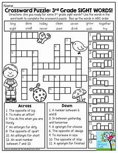 Crossword Puzzle  3rd Grade Sight Words  Great