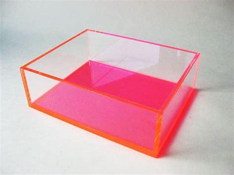 display box pink and clear acrylic organizing box
