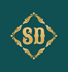 gold letter  swirly ornaments royalty  vector
