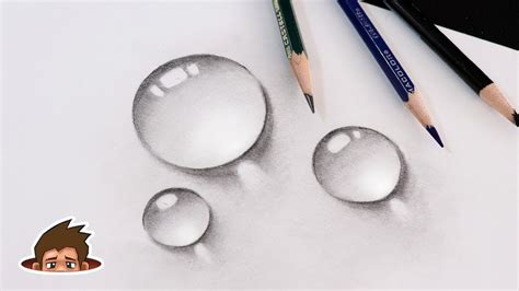 draw easy realistic water drops ar  craftman tv