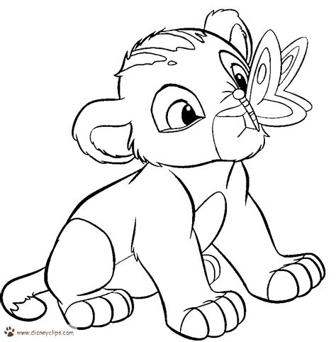 simba coloring pages to download and print for free