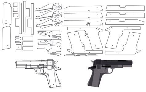 rubber band gun template 3d printing rc cnc laser projects blowback rubber band gun pinteres