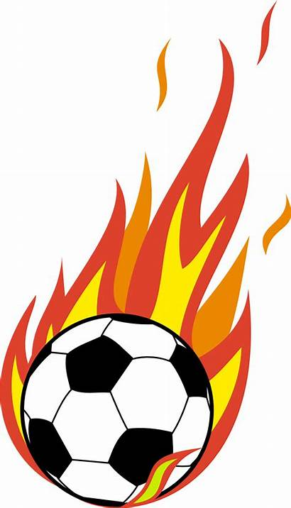 Flaming Football Clipart Soccer Ball Clip Clipground
