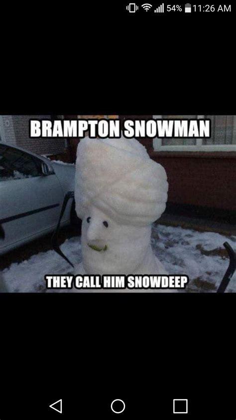brampton snowman  emerged inbramptoncom