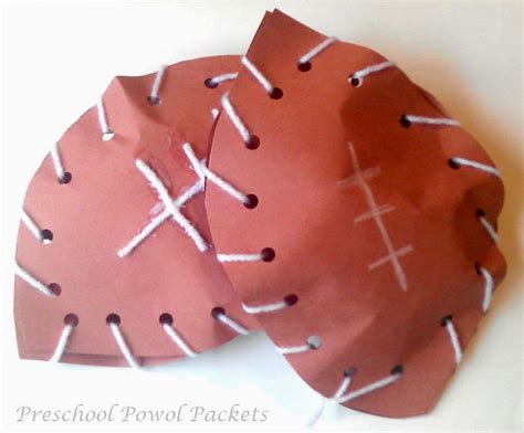 sports theme preschool lesson preschool powol packets 334 | football craft 2