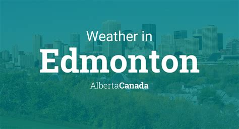 weather  edmonton alberta canada