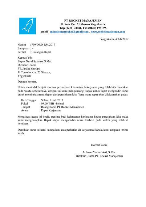 contoh surat resmi perusahaan untuk berbagai