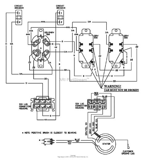 Ford Generator Wiring Diagram by Snapper G55000 5500 Watt 10 Hp Generator 1668 0 Parts