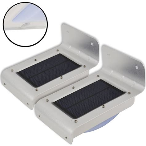 led rechargeable solar powered motion sensor pir outdoor