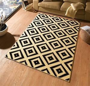 Teppich 160 X 230 : design teppich raute 160 x 230 cm schwarz creme ut 15 accessoires teppiche design trend teppiche ~ Avissmed.com Haus und Dekorationen