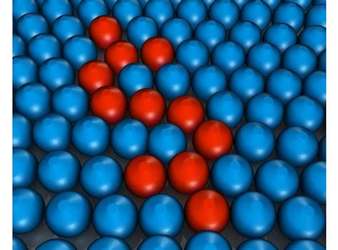 blue colored metal balls   red balls