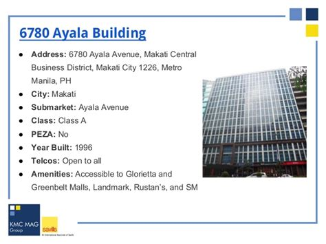 Peza Accredited Buildings and Office Spaces for Rent in Makati