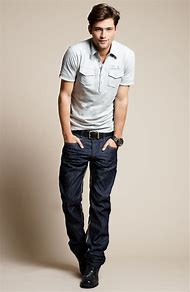 Casual Polo Shirt with Jeans Men