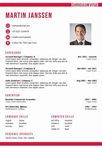 cv template cape town With cv format template word