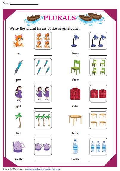 write  plural forms  nouns  images nouns