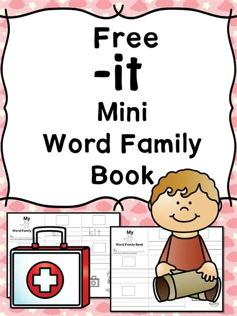 cvc word family worksheets   word family book