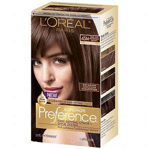 loreal preference sm dark soft mahogany brown
