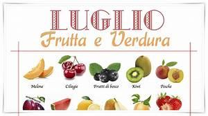 Frutta e Verdura di stagione Luglio lista della spesa