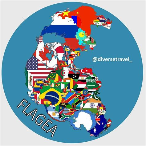 Map of Pangea with current International borders - Vivid Maps