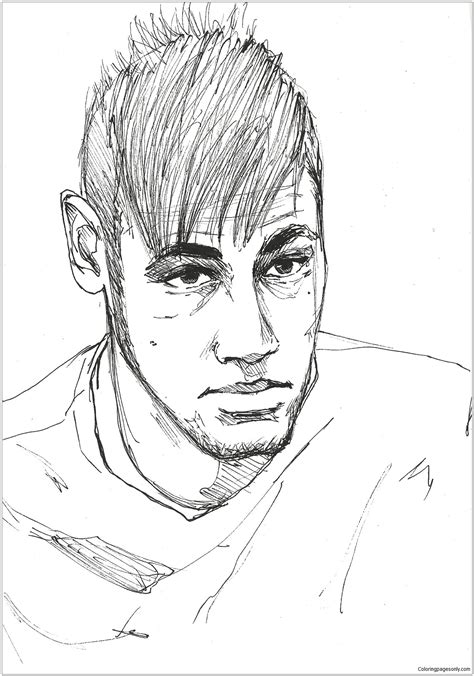 neymar image  coloring page  coloring pages