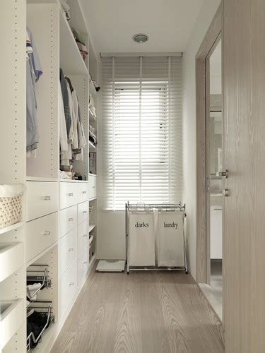 narrow closet design contemporary closet