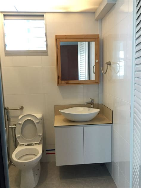 ikea mirror cabinet washroom wood basin hdb our
