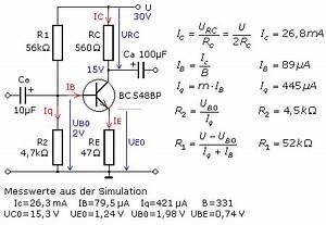 Transistor Als Schalter Berechnen : transisor in emitterschaltung als kleinleistungsverst rker ~ Themetempest.com Abrechnung