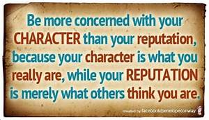 character vs. reputation | Quotes | Pinterest