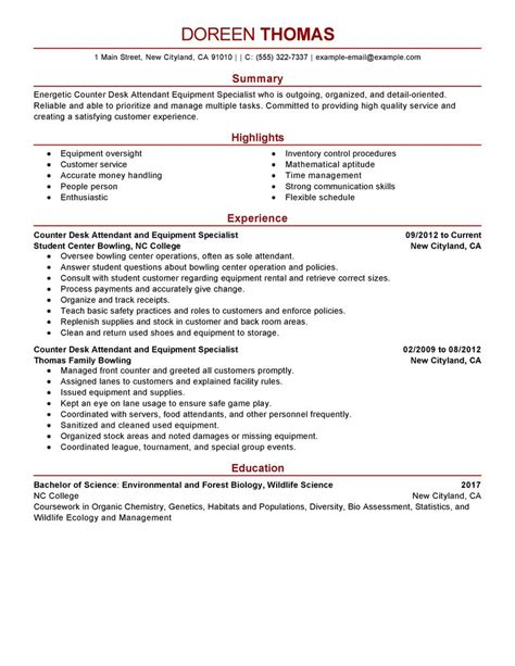 Food Counter Attendant Resume by Best Counter Desk Attendant Equipment Specialist Resume