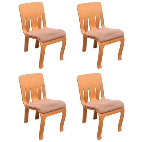 set of thonet bent plywood chairs for sale at 1stdibs