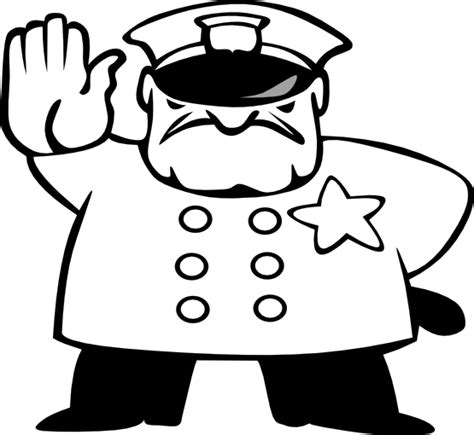 11589 policeman clipart black and white officer clipart black and white clipart panda