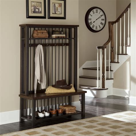 Lowes Entryway Bench by Home Styles Cabin Creek Hall Tree By Oj Commerce 5411 49