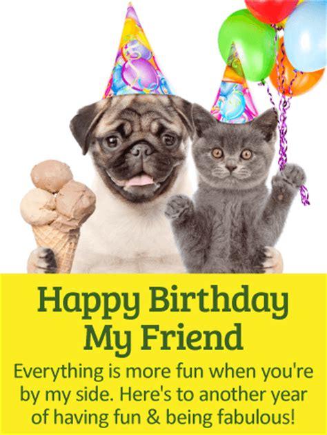 lets  fabulous happy birthday card  friends