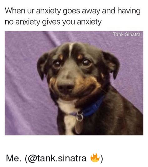 Anxiety Meme - when ur anxiety goes away and having no anxiety gives you anxiety tank sinatra me funny meme