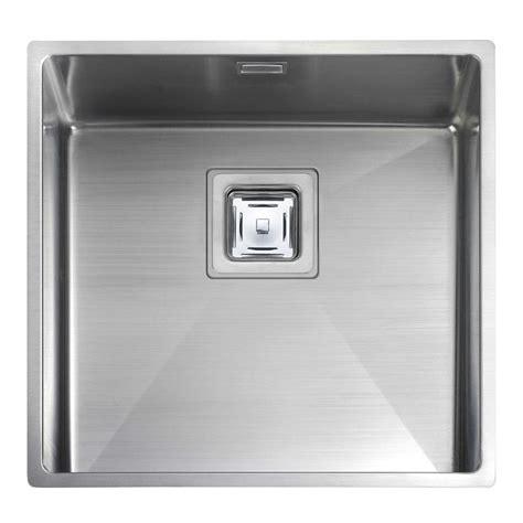 stainless steel kitchen sinks uk rangemaster atlantic kube kub40 stainless steel sink 8278
