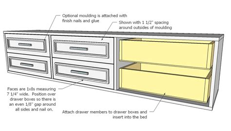 twin storage bed woodworking plans woodshop plans