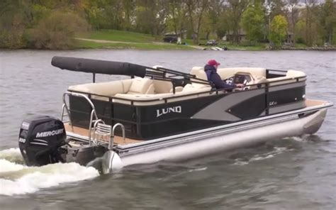Lund Pontoon Boats lund launches pontoon line quimby s cruising guide