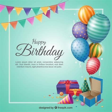 birthday background  flat design vector