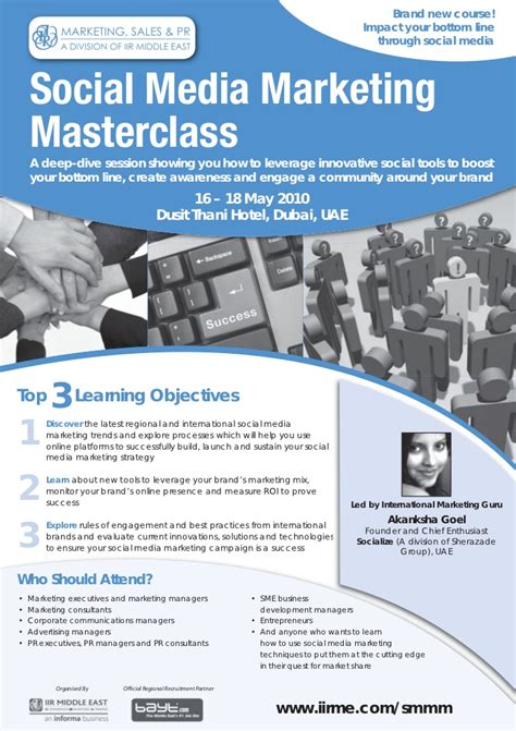 Social Media Marketing Masters Degree by Socialize Social Media Marketing Master Class Dubai