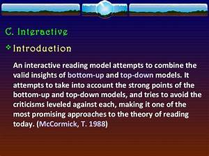 Reading Models and Schema Theory