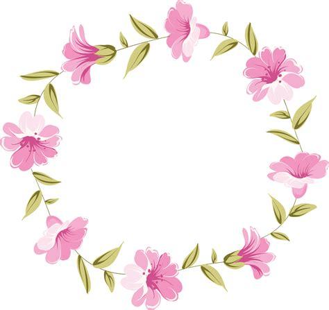 freedesignfile com / Floral Frame Vetores florais Fundo