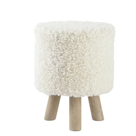 tapis chambre fille ikea tabouret pouf imitation et bois blanc alpaga