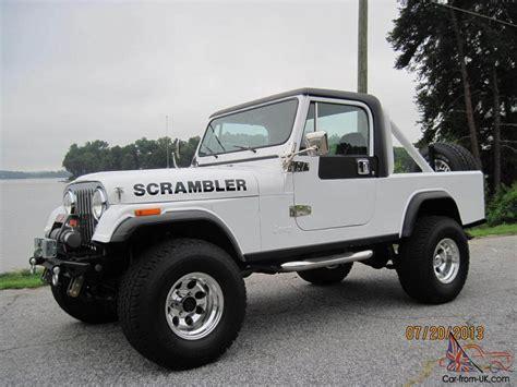 jeep scrambler 1982 1982 cj8 scrambler rust free 401 amc auto trans 700 r 4