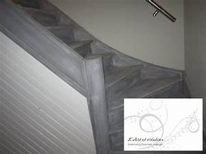 Peindre Escalier En Bois : peindre escalier bois en gris 17 peindre escalier bois ~ Dailycaller-alerts.com Idées de Décoration