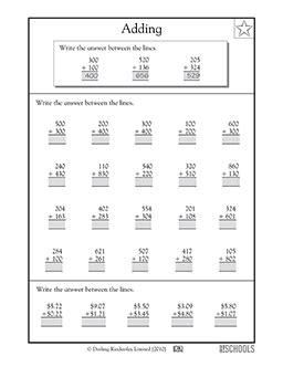 2nd grade math worksheet 3 digit addition with regrouping 2nd grade 3rd grade math worksheets addition with 3