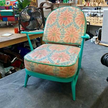 Ercol Chair Reimagined Upholstery Reupholster Reupholstered