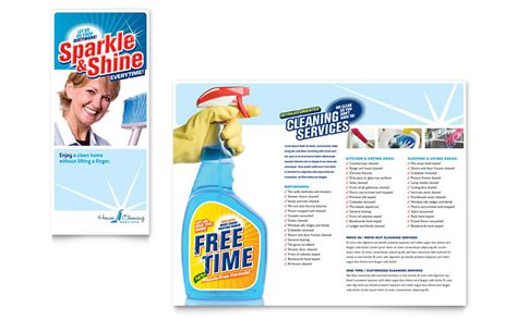 house cleaning housekeeping brochure template word